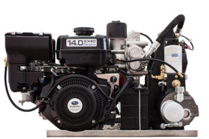 30CFM Gas Drive Air Compressor Backview