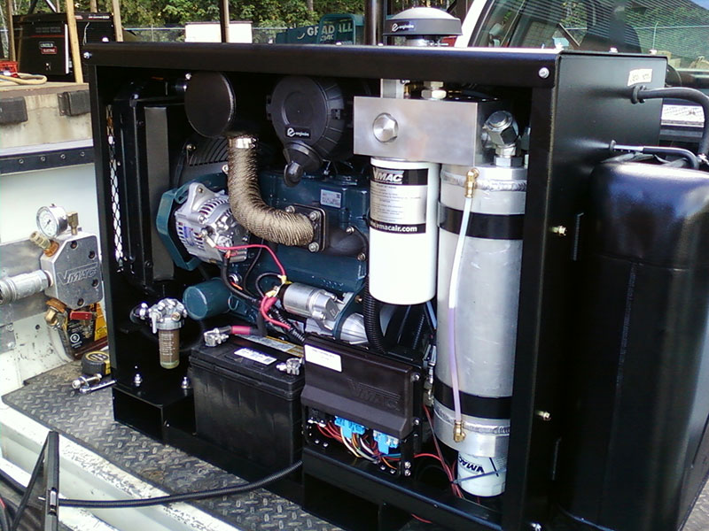 diesel air compressor internal view