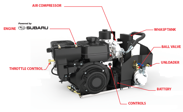 gas driven air compressor components