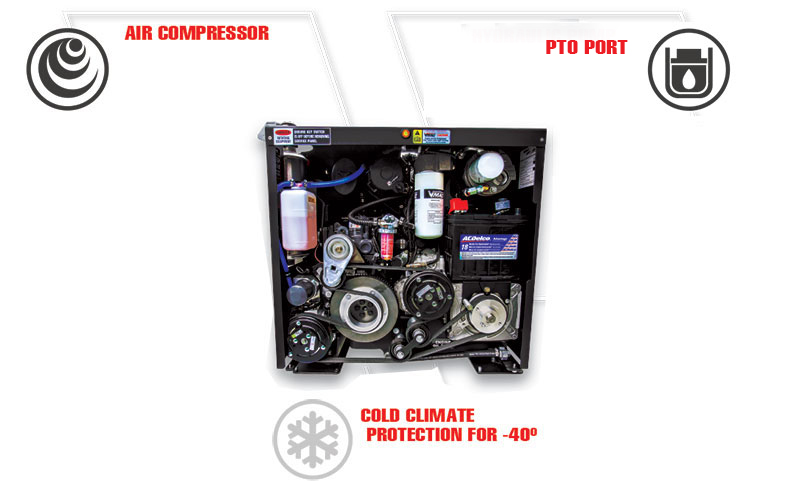 Multifunction Compressor-Hydraulic-Power-System Components