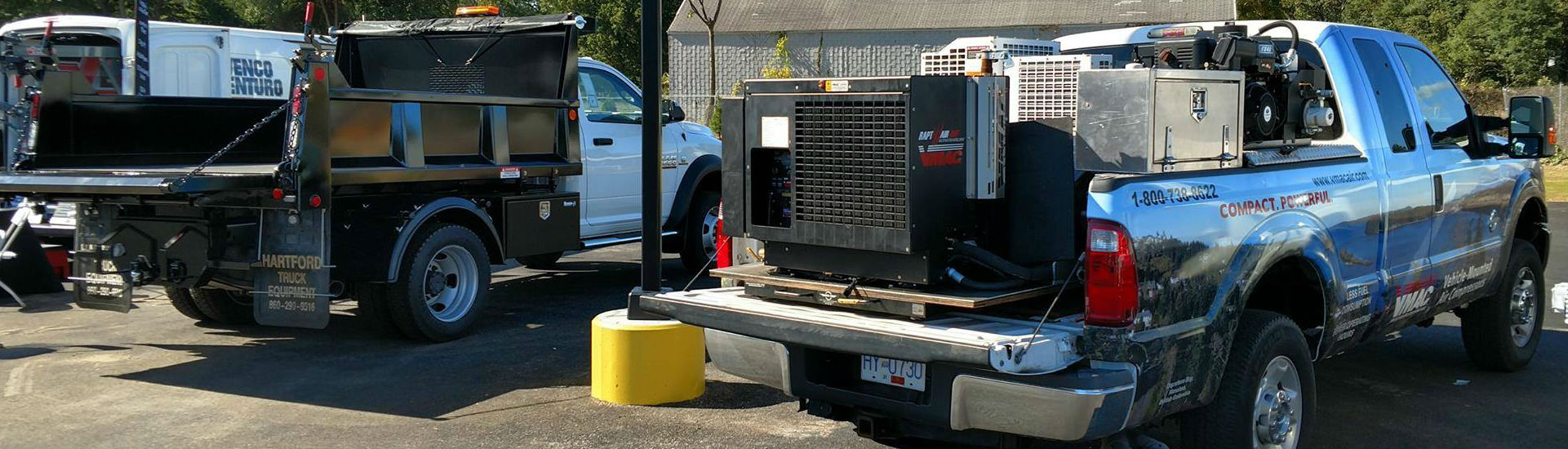 D60 diesel air compressor on demo truck