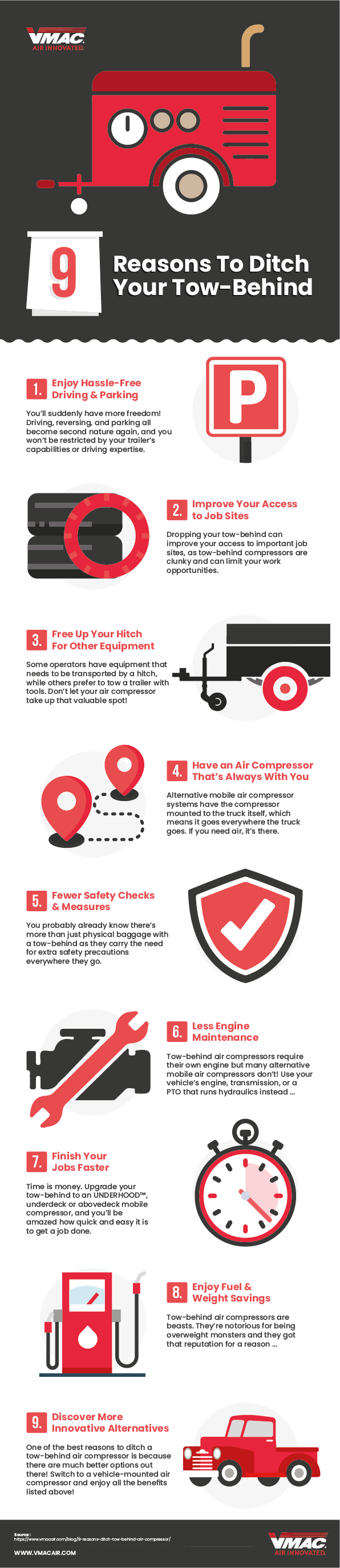 Reasons To Ditch Your Tow Behind Infographic