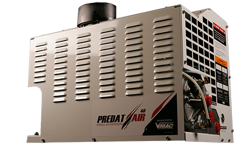 Predatair Hydraulic Air Compressor back View